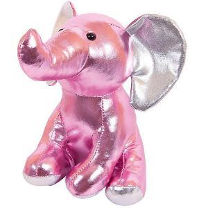 Мягкая игрушка  Металлик Слоник, 16 см ABtoys. Цвет: розовый