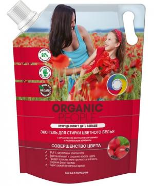 Эко гель для стирки цветного белья, (2000 мл) Organic People