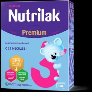 Молочная смесь  Premium 3 с 12 месяцев, 350 г Nutrilak