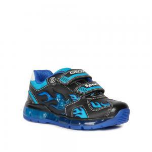Кроссовки , цвет: черный/голубой Geox
