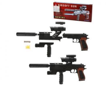 Пистолет-автомат механический с прицелом Наша Игрушка