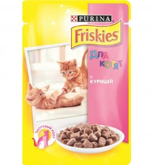 Корм влажный  для котят, курица, 100г Friskies