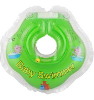 Круг  полуцвет+погремушка, цвет: салатовый Baby Swimmer