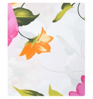Комплект постельного белья  Евро/нав. 70х70, цвет: белый/розовый Василиса