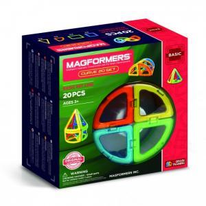 Конструктор  Магнитный Curve (20 деталей) Magformers