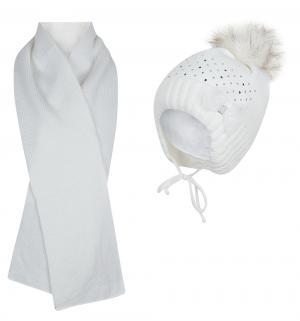 Комплект шапка/шарф , цвет: белый Magrof