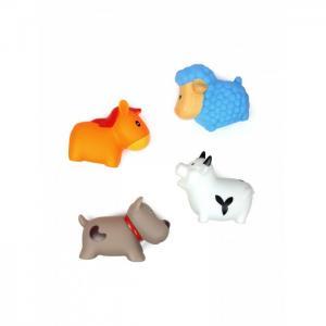 Игрушка для ванной Сельские животные Овечка, Коровка, Собачка и Лошадка 4 шт. ЯиГрушка