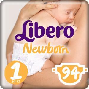 Подгузники  Newborn Size 1 (2-5 кг) 94 шт. Libero