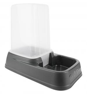 Миска-дозатор для собак  корма или воды, цвет: серый, 33.5*20*27см Beeztees