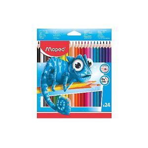 Набор пластиковых цветных карандаей  Pulse 24 цвета Maped. Цвет: разноцветный