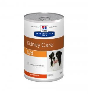Влажный диетический корм Hills Prescription Diet для взрослых собак k/d при заболеваниях почек, 370г Hill's