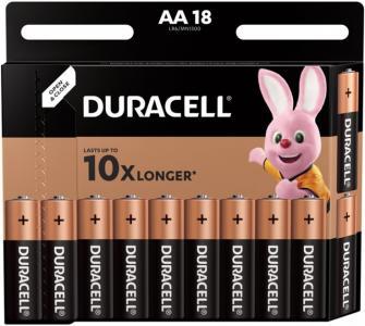 Батарейка алкалиновая Basic AA (LR06) 18 шт. Duracell