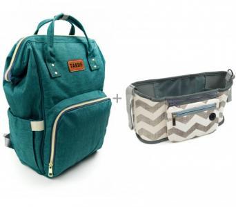Сумка-рюкзак для мамы Tarde с органайзером на ручку коляски Okola Forest