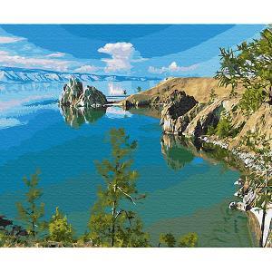 Картина по номерам  Озеро Байкал, 40х50 см Molly. Цвет: разноцветный