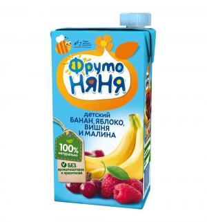 Нектар , яблоко-банан-малина-вишня 500 мл, 1 шт ФрутоНяня