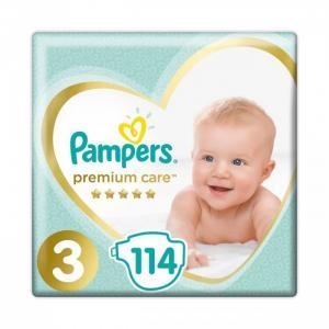 Подгузники Premium Care р.3 (6-10 кг) 114 шт. Pampers