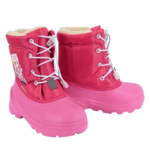 Сноубутсы  Куколка, цвет: розовый Дюна