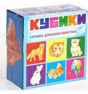 Набор кубиков  Домашние животные (4 шт.), 4 х см Dream Makers