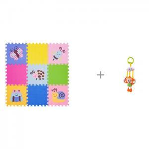 Игровой коврик  12 Окружающий Мир, толщина 15мм KB-D20B-NT и Подвесная игрушка Forest Обезьянка с колечками FunKids