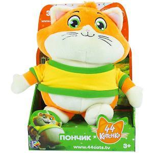 Музыкальная мягкая игрушка  44 котёнка Пончик, 20 см Rainbow. Цвет: оранжевый