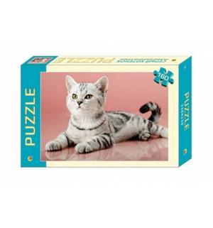 Пазл  Серый котенок Рыжий кот