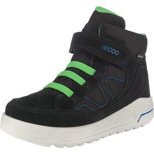 Утеплённые ботинки ECCO. Цвет: черный