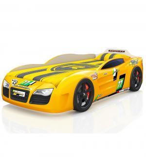 Кровать-машинка  Renner 2, цвет: желтый Romack