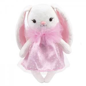 Мягкая игрушка  Зайка Мишель в платье c жабо Angel Collection
