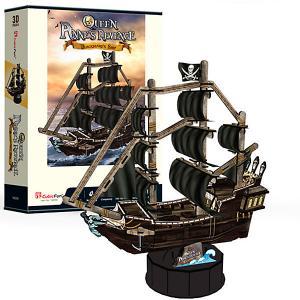 3D пазл  Корабль Месть Королевы Анны CubicFun. Цвет: разноцветный