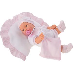 Кукла  Химена в розовом, плачет, 27 см Munecas Antonio Juan. Цвет: розовый