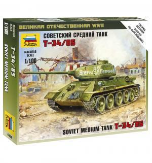 Сборная модель  Советский средний танк Т-34/85 1:100 Звезда