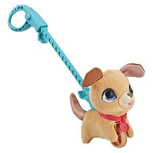 Мягкая игрушка FurReal Friends Маленький питомец на поводке Бежевая собака Hasbro