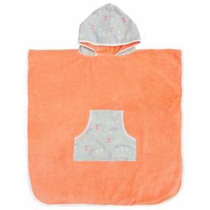 Полотенце-пончо с капюшоном Tender Hugs Полянка 140х70 см AmaroBaby