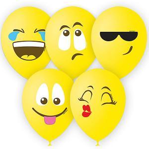Воздушные шары  Эмоции смайл 25 шт., жёлтый, пастель (шёлк) Latex Occidental