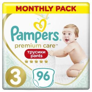 Подгузники-трусики Premium Care 3 р. (6-11 кг) 96 шт. Pampers 96шт.