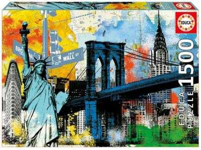 Пазл Символы Нью-Йорка (1500 деталей) Educa