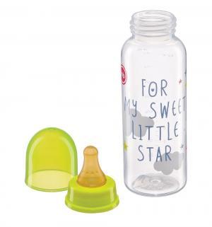 Бутылочка  с латексной соской полипропилен рождения, 250 мл Happy Baby