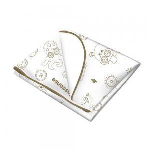Клеенка  подкладная с обработкой тесьмой рисунком, 1 шт, цвет: белый Inseense
