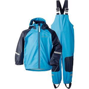 Комплект Didriksons Stormman: куртка и полукомбинезон. Цвет: голубой