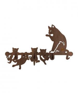 Вешалка Кошка с котятами Стенаграмма