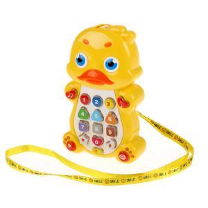 , Телефон музыкальный Утенок со световым проектором Умка