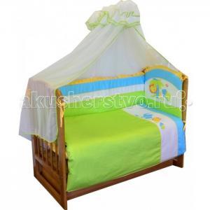 Комплект в кроватку  Джунгли (7 предметов) Soni Kids