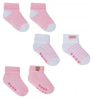 Носки, цвет: розовый Luvable Friends