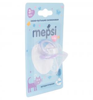 Соска-пустышка  Ортодонтическая силикон, с 3 мес, цвет: фиолетовый Mepsi