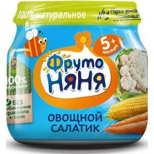 Пюре  овощной салатик с 5 месяцев, 80 г ФрутоНяня