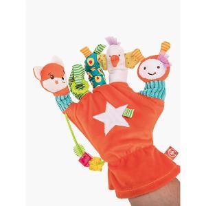 Игрушка-перчатка  Дай пять Happy Baby. Цвет: разноцветный
