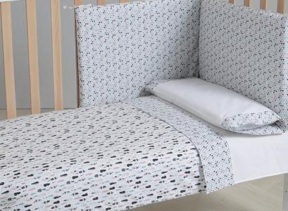 Комплект в кроватку  Покрывало и бортики Indie 120x60 Micuna