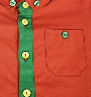 Рубашка , цвет: коричневый/зеленый The hip!