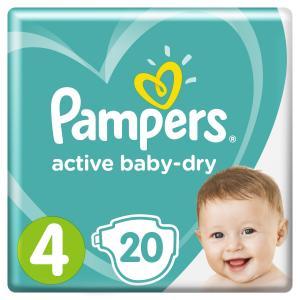 Подгузники  Active Baby Maxi (9-14 кг) 20 шт. Pampers