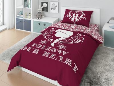 Постельное белье  1.5 спальное Follow your heart наволочка 50х70 (3 предмета) Disney
